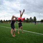 Handstand op de sport en speldag