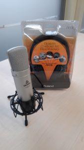 Microfoon headset van Studio Aalsmeer